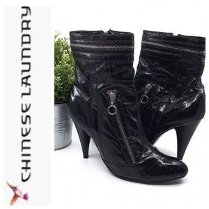 Chinese Laundry COSMIC Black Vegan Leather Boots